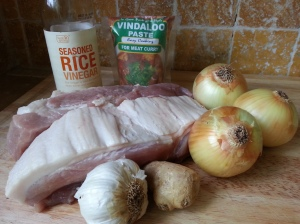 Ingredients for pork vindaloo.