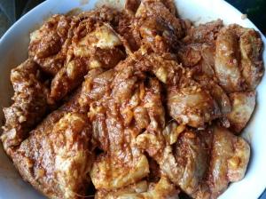Marinate meat overnight.