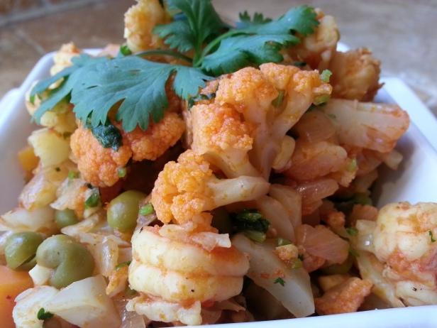 Cauliflower and Shrimps