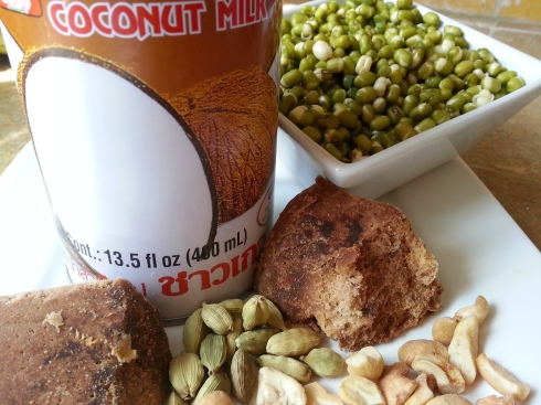 Moong-Dal Pudding Ingredients