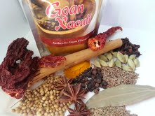 Ingredients for Xacuti spice mix.