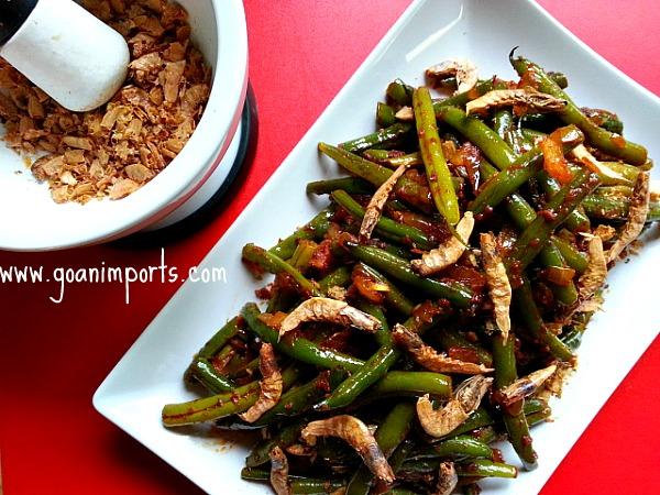 Goan green beans recipe goanimports recheado green beans goan spices recipes indian vegetarian forumfinder Gallery