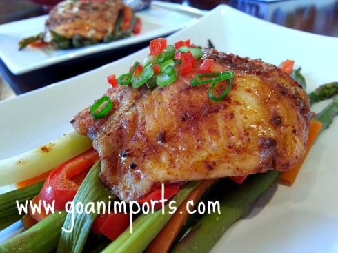 Oven baked spicy salmon for Oven grilled fish recipes