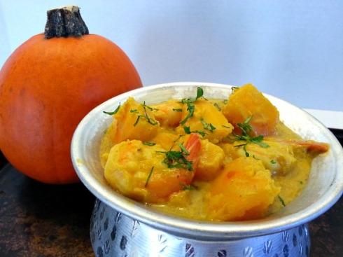 Caldinha - Pumkin and Shrimp Goan Curry Recipe