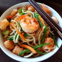 Goan Chow Chow Recipe - Shrimp Egg Noodles