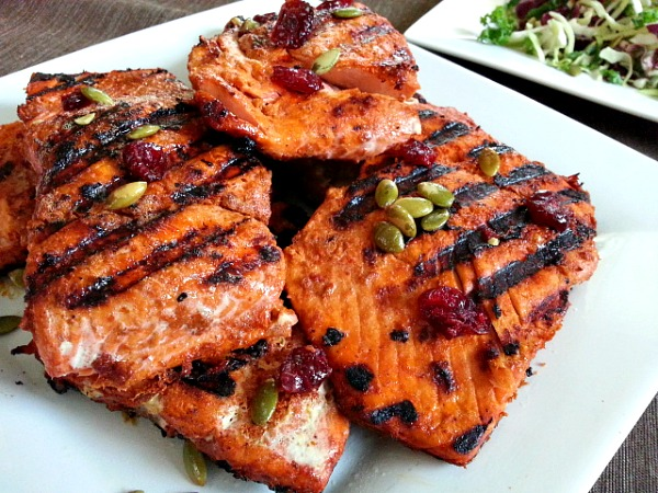 Goan spiced grilled salmon for The fish grill