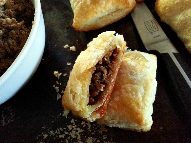 Patties – Baked Puff Pastry stuffed with seasoned ground