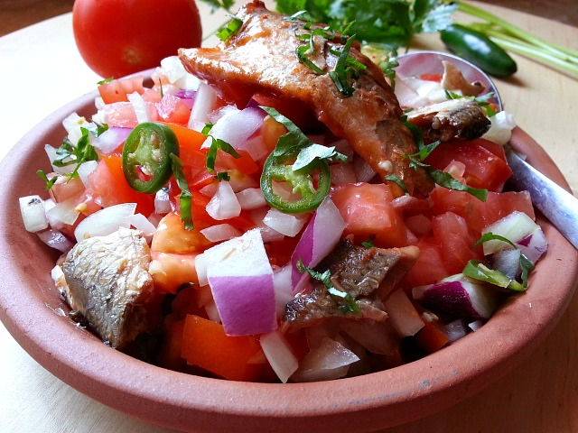 Canned sardines salad for Fish salad recipes