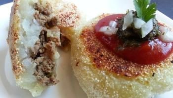 Potato Chops (Meat-Stuffed Indian Potato Pancakes) Recipes ...