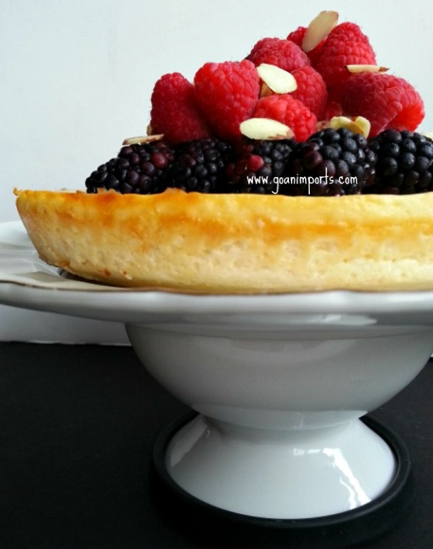 baked-cheesecake-crust-less-low-sugar-fat-easy-recipe