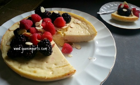 baked-cheesecake-crust-no-sour-cream-low-sugar-fat-easy-food-network-foods-recipe