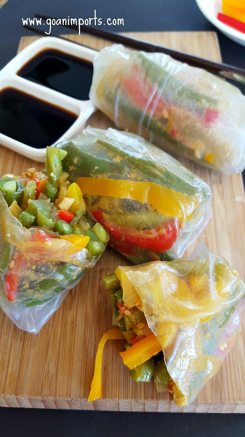 thai-curry-glazed-green-beans-vietnamese-fresh-spring-roll-stuffing-recipe