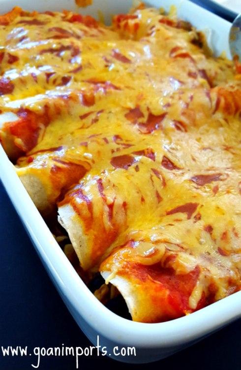 Vegetarian Enchilada Casserole Recipe — Dishmaps