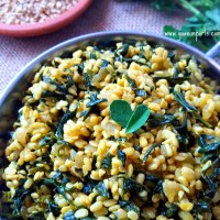 Methi Bhaji - Fenugreek Leaves and Urad Dal Recipe
