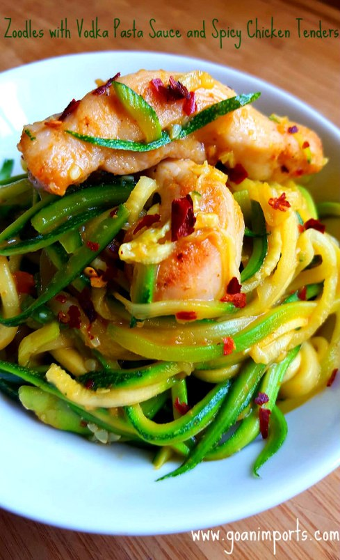 zoodles-with-pasta-vodka-sauce-tandoori-spiced-saute-chicken-tenders-recipe