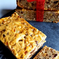 Fruit Cake with Brandy Soaked Candied Dry Fruits