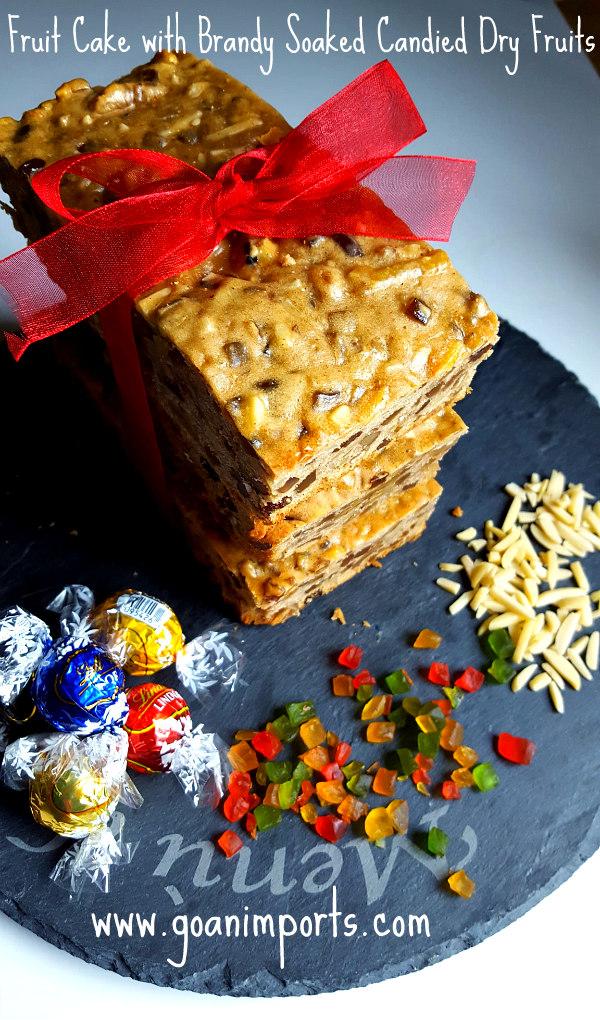 Brandy Soaked Fruit Christmas Cake